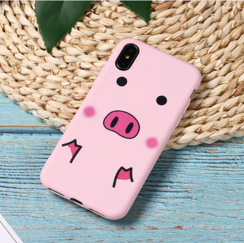 Pink Pig Cute Cartoon Lazy Cats Spotty Dog Corgi Puppy Soft Matte Phone Case Fundas For iPhone 7Plus 7 6Plus 6 6S 5SE 8 8Plus X XS Max 103